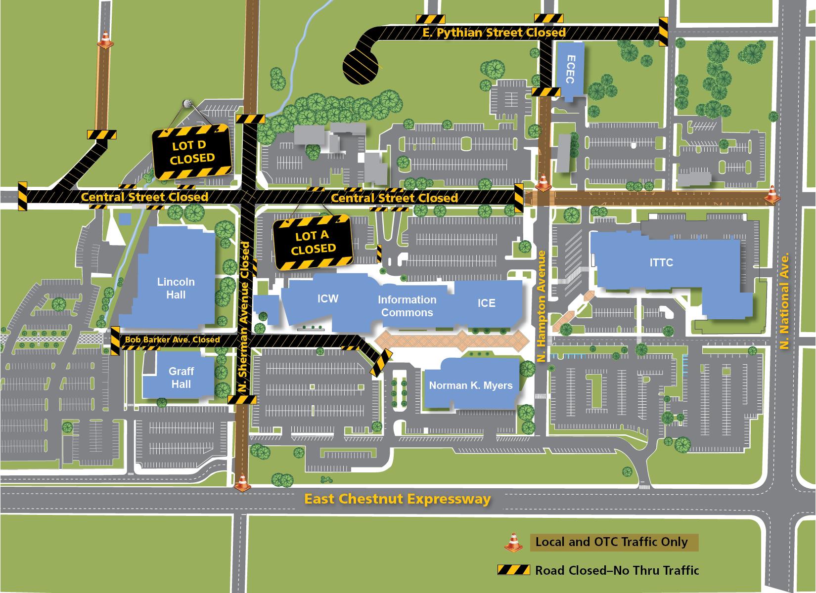 Parking Lot Closure Map(6-29-16)