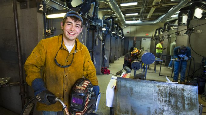 First-year Welding Student Aims To Be Top Of Class