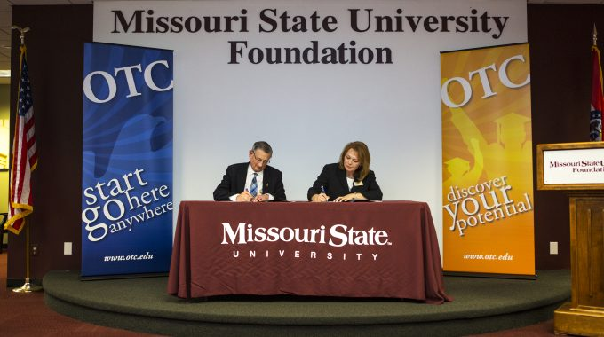 OTC, Missouri State Sign Agreement To Benefit Honors Students