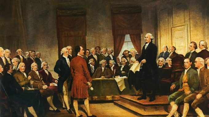Founding Fathers Sign The Constitution