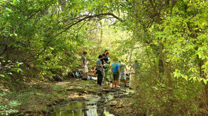 OTC STEM Scholars Stream Team To Clean Up Jordan Creek