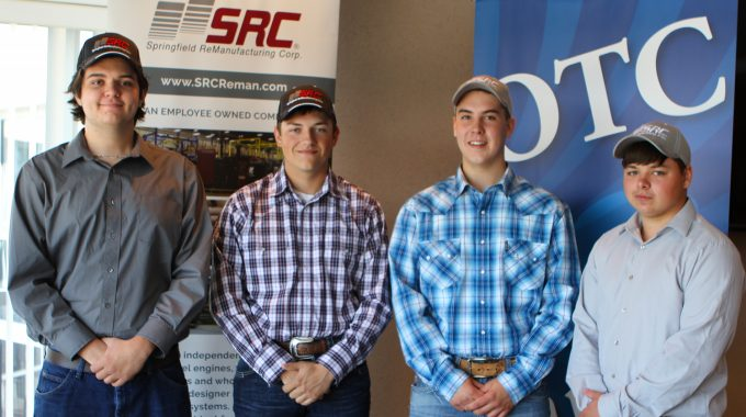 Four OTC Career Center Students Sign Apprenticeship Agreements With SRC.