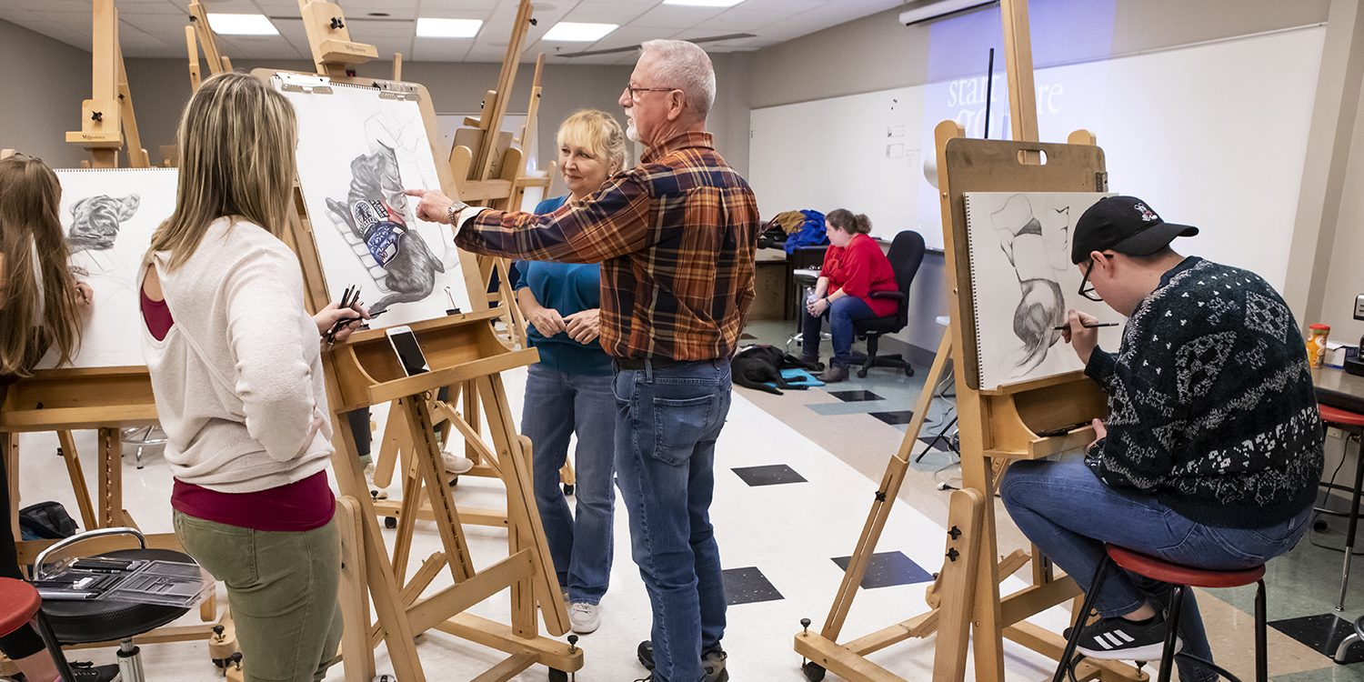 Project Connects Otc Drawing Students And Service Dogs