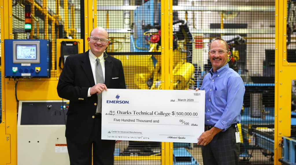 Emerson pledges $500,000 donation to OTC's Center for Advanced Manufacturing