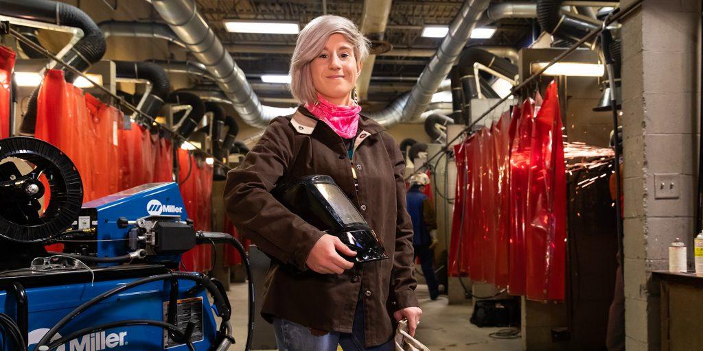 OTC high school student defies gender norms, sets sights on welding career